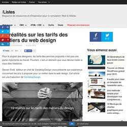 12 réalités sur les tarifs des métiers du webdesign