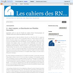 Cahiers des Réalités Nouvelles
