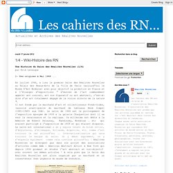 1/4 - Wiki-Histoire des RN