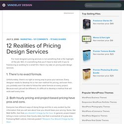 12 Realities of Pricing Design Services