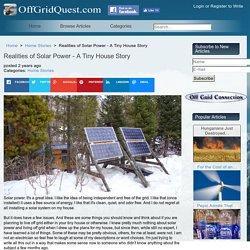 Realities of Solar Power - A Tiny House Story