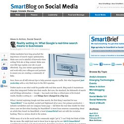 SmartBlog On Social Media » Reality setting in: What Google's re