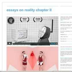 essays on reality chapter II - gregbarth.tv