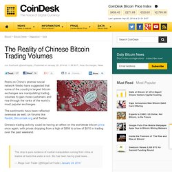 The Reality of Chinese Bitcoin Trading Volumes