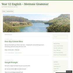 Year 12 English - Mentone Grammar