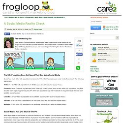 A Social Media Reality Check - Online Fundraising, Advocacy, and Social Media - frogloop