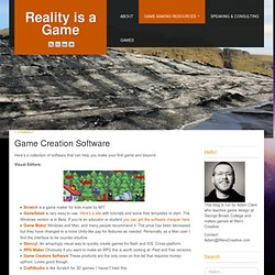 Game Creation Software
