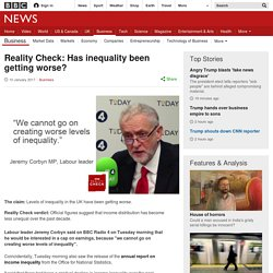 Reality Check: Has inequality been getting worse?