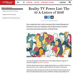 Reality TV Power List: The 10 A-Listers of 2016