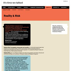 Reality & Risk - It's time we talked