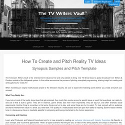 Synopsis Samples and Pitch Template