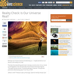 Reality Check: Is Our Universe Real?