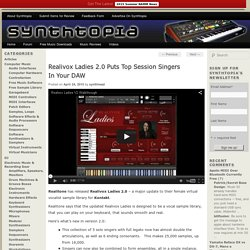 Realivox Ladies 2.0 Puts Top Session Singers In Your DAW
