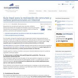 Guía legal para la realización de concursos y sorteos promocionales en Internet
