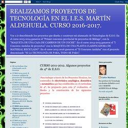 CURSO 2011-2012. Algunos proyectos de 4º de E.S.O.