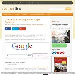 Cómo realizar una búsqueda en Google Académico