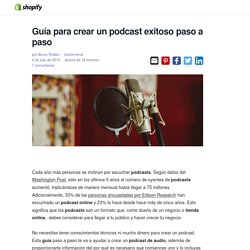 Guia Paso a Paso para realizar un Podcast Online de Producto