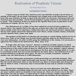Realization of Prophetic Visions