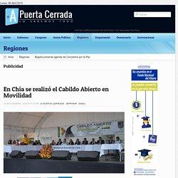 En Chía se realizó el Cabildo Abierto en Movilidad
