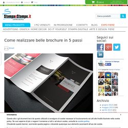 Come realizzare belle brochure in 5 passi - Blog Stampa e Stampe