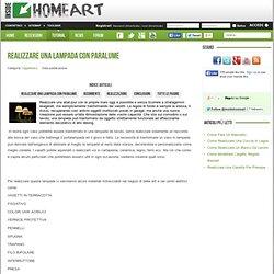 Realizzare una lampada con paralume - Inside HomeArt