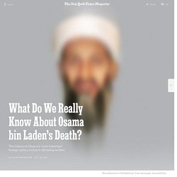 What Do We Really Know About Osama bin Laden's Death?