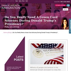 Do You Really Need a Green Card Attorney During Donald Trump's Presidency?