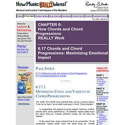 How Music REALLY Works!, Chapter 6: How Chords and Chord Progressions REALLY Work