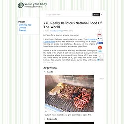 270 Really Delicious National Food Of The World