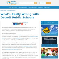 What's Really Wrong with Detroit Public Schools