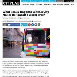 What Really Happens When a City Makes Its Transit System Free?