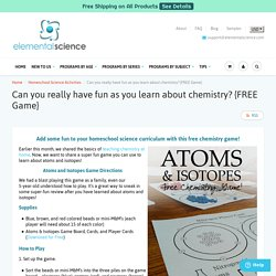 Free Chemistry Game to learn about Atoms and Isotopes