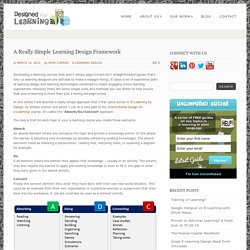 A Really Simple Learning Design Framework