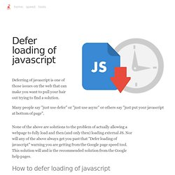 How to really defer loading javascript