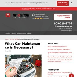 Do you really know what car maintenance is necessary?