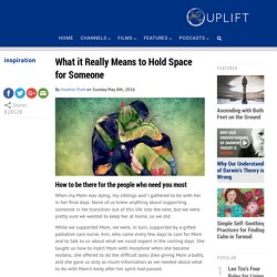 What it Really Means to Hold Space for Someone