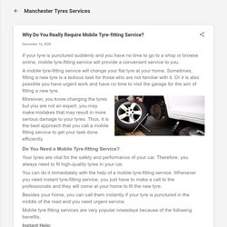 Why Do You Really Require Mobile Tyre-fitting Service?