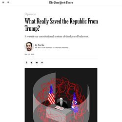 What Really Saved the Republic From Trump?