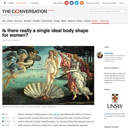 Is there really a single ideal body shape for women?