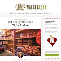 Eat Really Well on a Tight Budget – Walkerland