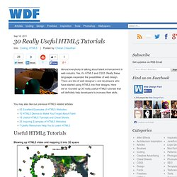 30 Really Useful HTML5 Tutorials