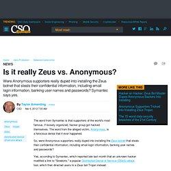 Is it really Zeus vs. Anonymous?
