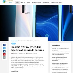 Realme X2 Pro: Price, Full Specifications And Features