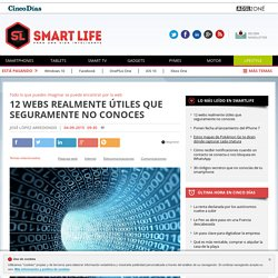 Páginas web: 12 webs realmente útiles que seguramente no conoces
