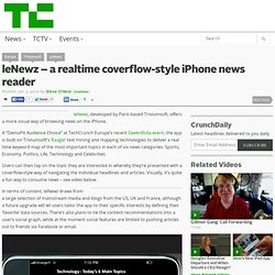 leNewz – a realtime coverflow-style iPhone news reader