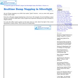 Realtime Bump Mapping in Silverlight