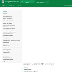 Google Realtime API Overview