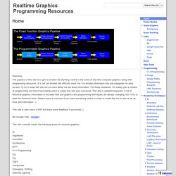Realtime Graphics Programming Resources