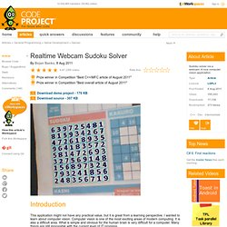Realtime Webcam Sudoku Solver