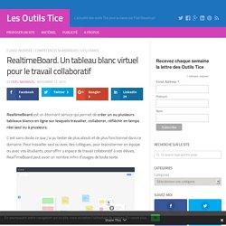 RealtimeBoard. Tableau blanc virtuel pour le travail en groupe